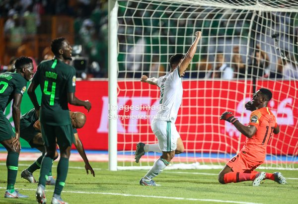 #AFCON2019:NIGERIA back into the game 1-1 against ALGERIA