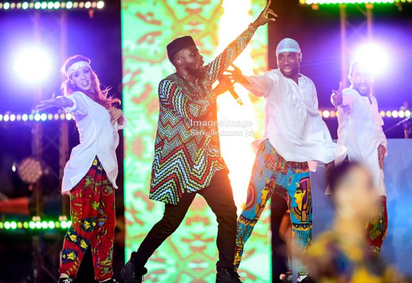 #AFCON2019: Ghanaian Musician Fuse ODG light up closing ceremony in CAIRO