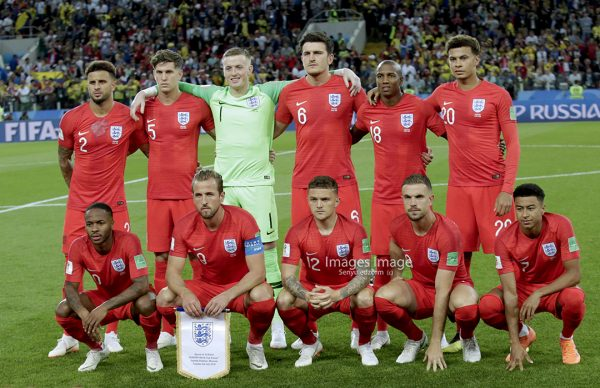 FIFA 2018 World Cup; England's lineup